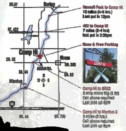 Camp Hi map